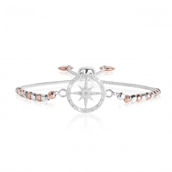 "Armband ""Amulet - Wanderlust"" (Silber/Roségold) von Joma Jewellery"