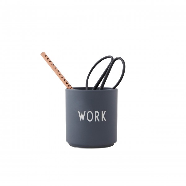 "Design Letters Becher ""WORK"" (Grau)-1"