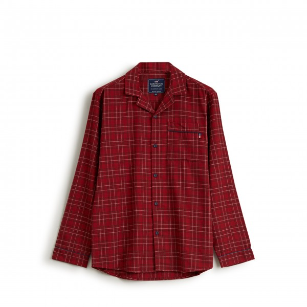 "Lexington Unisex Pyjama ""Checked Flannel"" - M (Rot)"