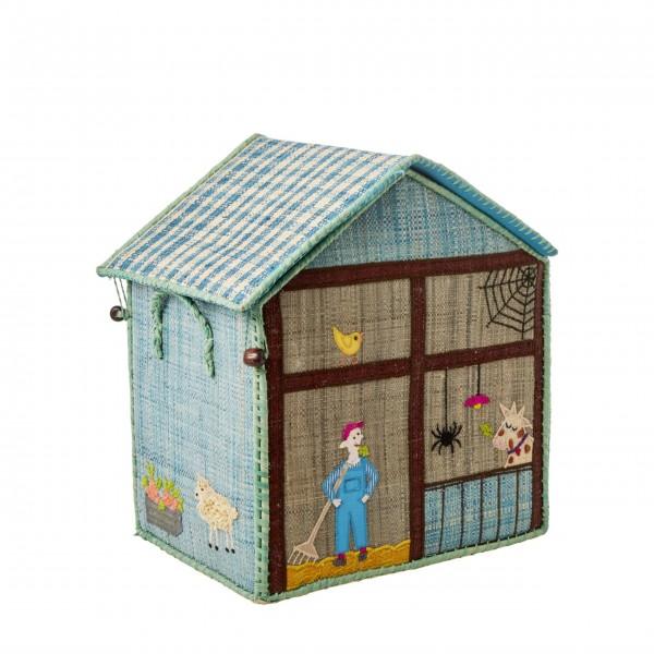 "Rice Spielzeugkorb ""Farm"" - Klein-1"