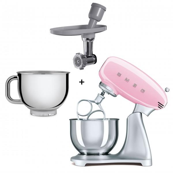 """smeg Spezial Paket Küchenmaschine """"50's Retro Style"""" (Cadillac Pink)"""