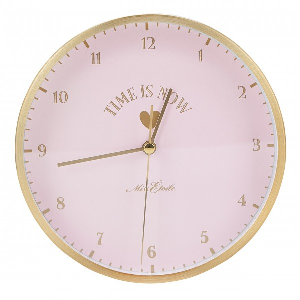 "Miss Étoile Tisch-/Wanduhr ""Time is now"" (Rosa)"