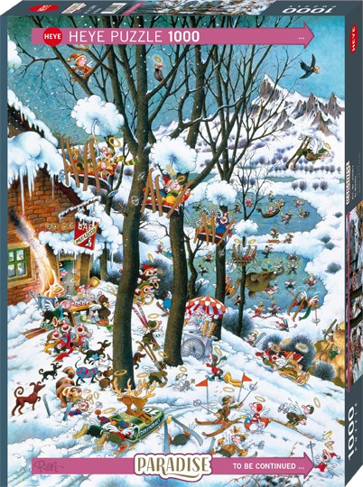 Puzzle In Winter PARADISE Standard 1000 Pieces