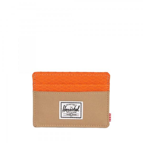 """Herschel """"Charlie Wallet"""" Kreditkartenetui (Braun/Orange)"""