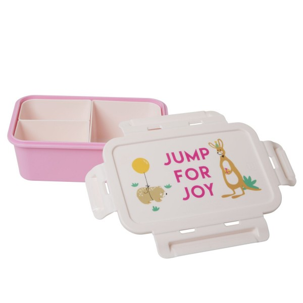 """rice Lunchbox mit 3 Fächern """"Party Animal"""" (Pink)"""