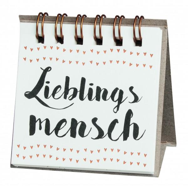 """Kleine Botschaften """"Lieblingsmensch"""" von räder Design"""