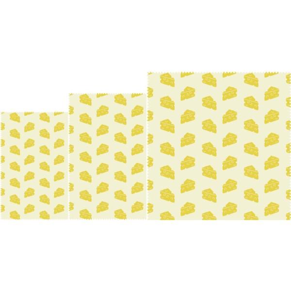 """Bee`s Wax Wrap Bienenwachstuch """"Käse"""" - 3tlg. - von nuts"""