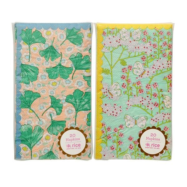 """Rice Papierservietten """"Butterflys & Leaves"""""""