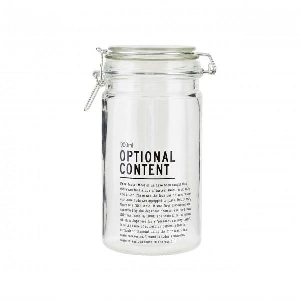 """House Doctor Vorratsglas """"Optional Content"""" (900ml)"""