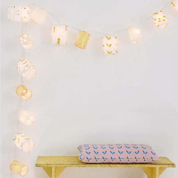 Lichterkette mit Papierlampions - von MIMI'lou