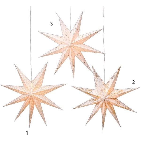Tolle Leuchtsterne in drei unterschiedlichen Designs