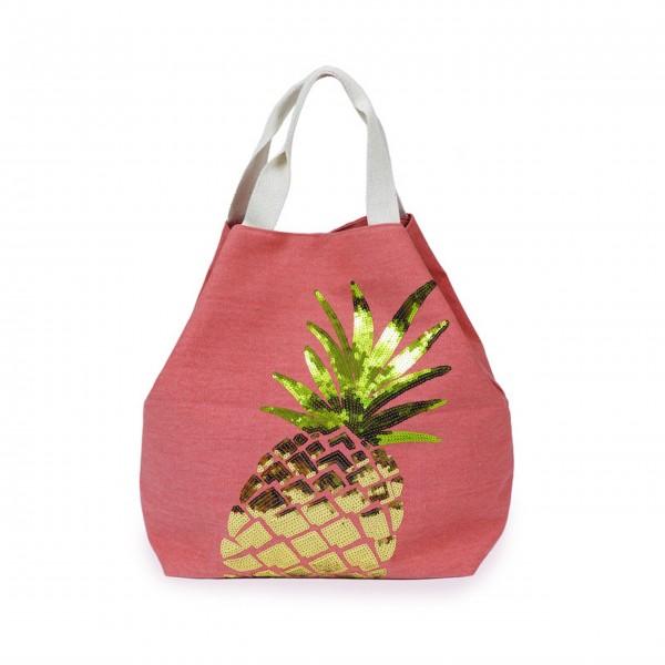 """Strandtasche """"Ananas"""" (Coral) von Powder"""