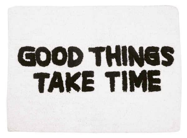 "AU Maison Teppich ""Good Things"" (Schwarz/Weiß)"