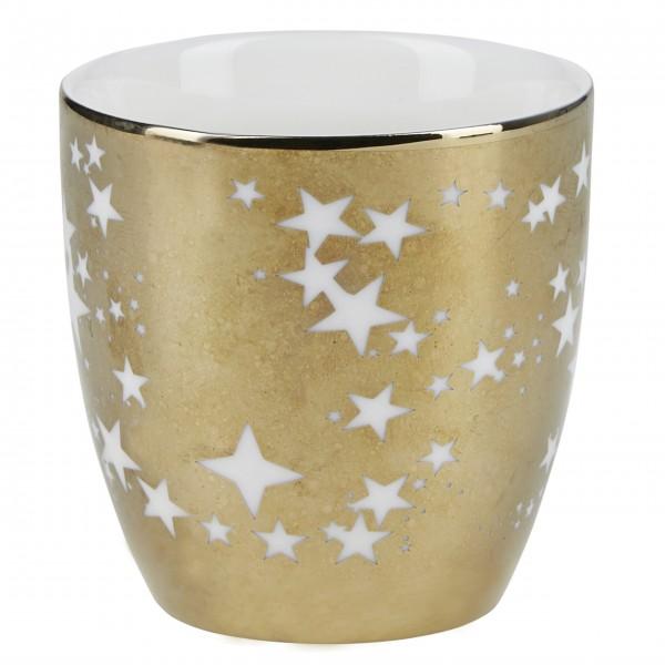 """Miss Étoile Teelichthalter """"Sterne"""" - Ø7 cm (Gold)"""