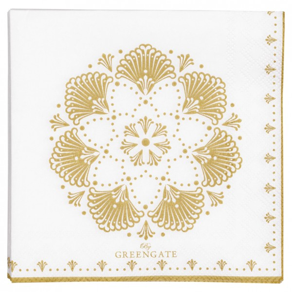 "Kleine Papierservietten ""Elvina"" (Gold) von Gate Noir by GreenGate"