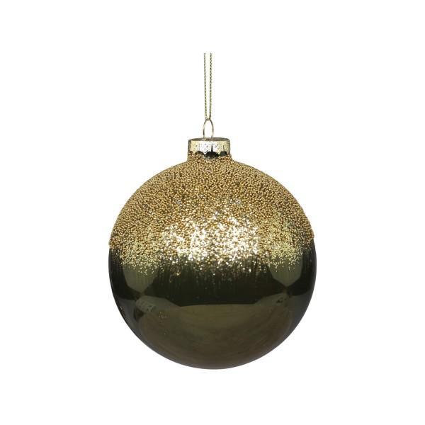 Chic Antique Weihnachtskugel mit Perlen - (Moos)
