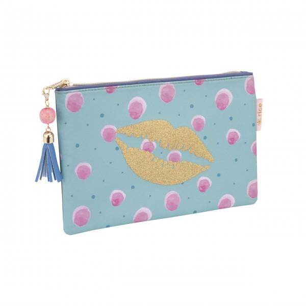 Rice Mäppchen mit Splash-Motiv (Blau/Pink)-1