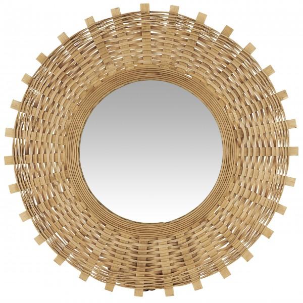 Ib Laursen Spiegel mit Bambusgeflecht