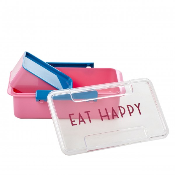 "Rice Lunchbox ""Eat Happy"" (Pink)-1"