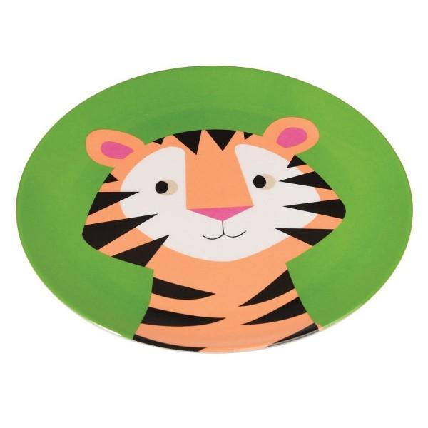 Melamin Teller mit lustigem Tiger