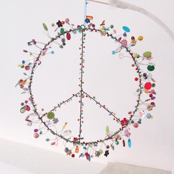 "NOÏ Drahtaufhänger ""FUNKEL - Peace"""