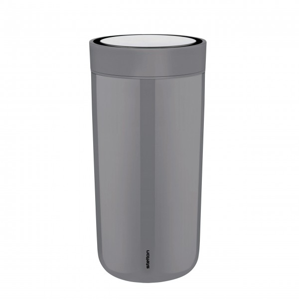 "Stelton Becher ""To Go Click"" - 400 ml (Granitgrau)"