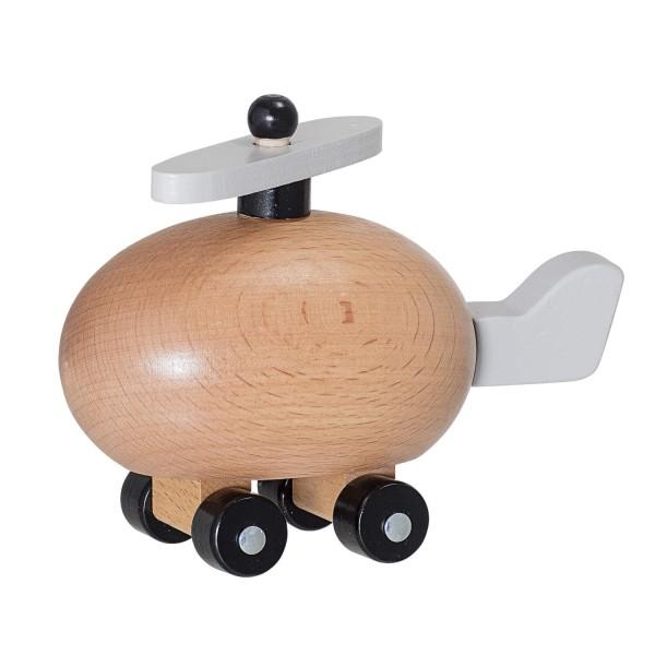 Bloomingville Spielzeugflugzeug aus Holz (Braun/Grau)