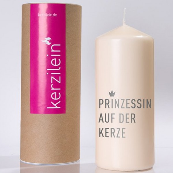 """Kerze """"PRINZESSIN AUF DER KERZE"""" (Grau) von Kerzilein"""