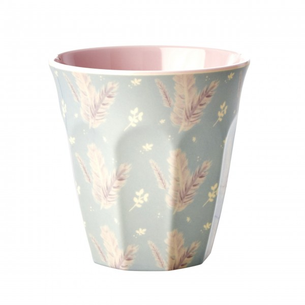 "Rice Melamin Becher ""Feather Print""-1"