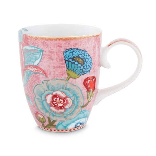 "Pip Studio - Große Tasse ""Spring to Life"" (Pink)"