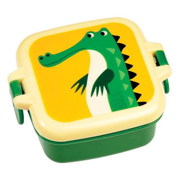 Für die Schulpause und den Klassenausflug - Brotdose mit süßem Krokodil