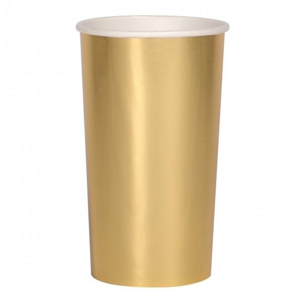 Papierbecher Gold Hoch von Meri Meri
