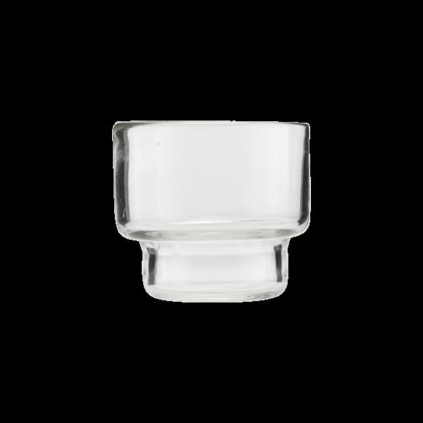 Kleines Glasgefäß für Teelichte oder Pflänzchen