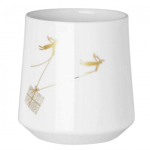 """Teelicht """"Winterwunderland Paketdienst"""" - Klein (Gold) von räder Design"""
