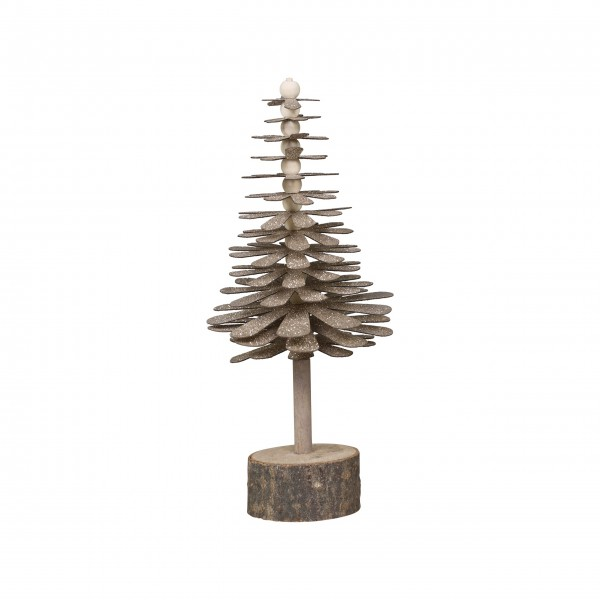 Chic Antique Weihnachtsbaum mit Holzfuß - Klein