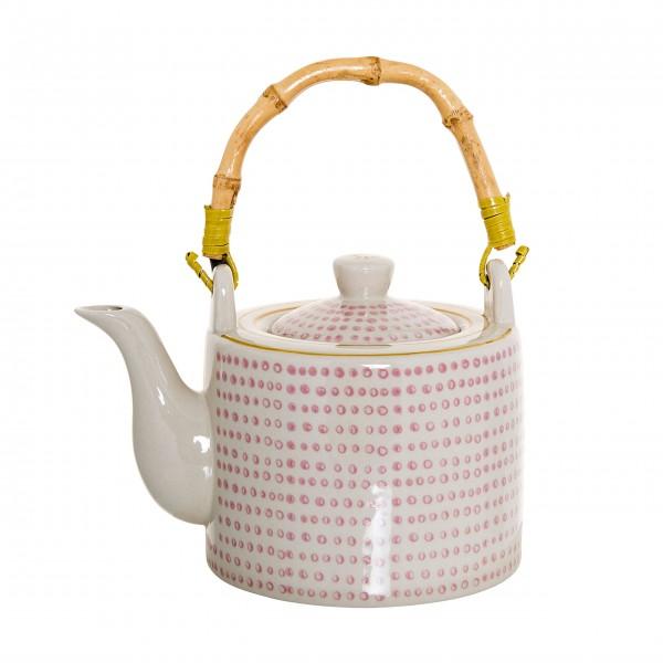 Mit dekorativem Bambushenkel: Teekanne von Bloomingville