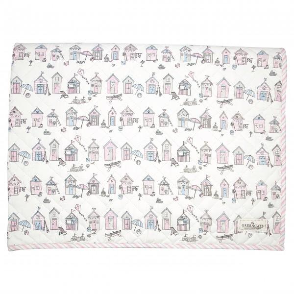 "GreenGate Kinder-Quilt ""Ellison"" - 120x120cm (Pale Pink)"