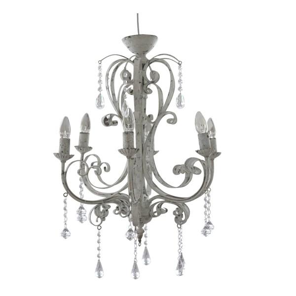 kronleuchter antik wei von chic antique. Black Bedroom Furniture Sets. Home Design Ideas