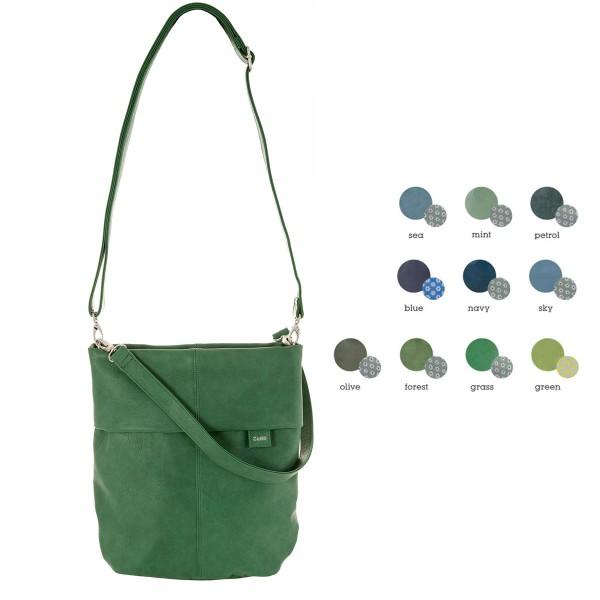 Zwei Tasche Mademoiselle in grünen und blauen Tönen