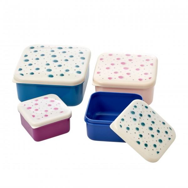"Rice Lunchbox-Set ""Water Splash Print"" - 4 Stck."