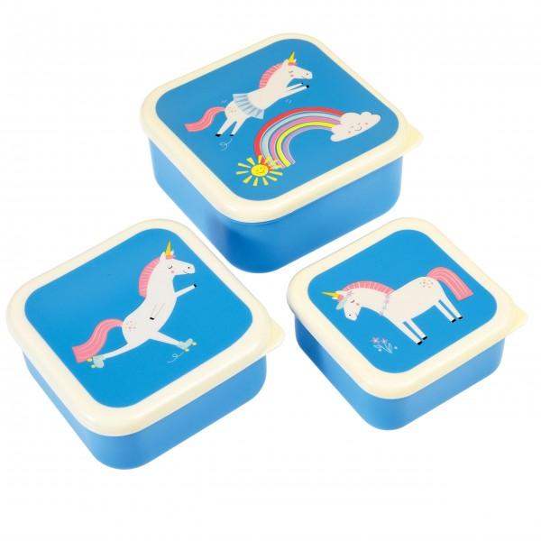 Süße Retro-Snackdosen mit Einhorn-Print für Ihre Kleinen