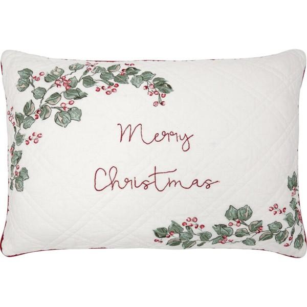 """GreenGate Kissen mit Stickerei """"Merry Christmas"""" - 40x60cm (White)"""
