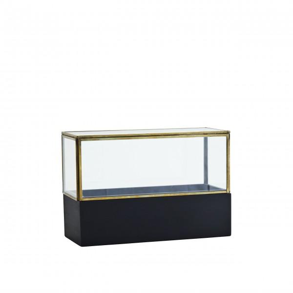 Kleine Glasvitrine aus hölzernem Boden von Madam Stoltz