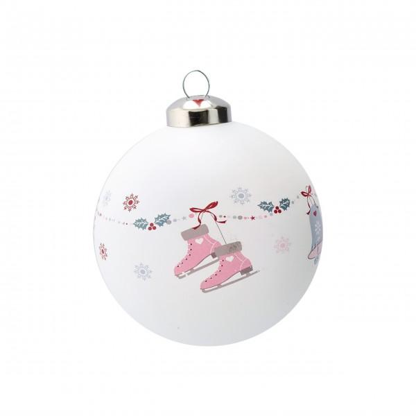"""Greengate Weihnachtskugel """"Jingle Bell"""" (White)"""
