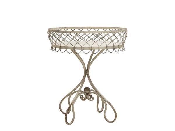 Chic Antique runder Tisch (Creme)