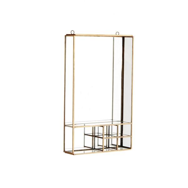 Metallregal mit Spiegel