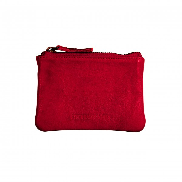 "Sticks and Stones Geldbörse ""Nice Buff Washed"" (Red)"