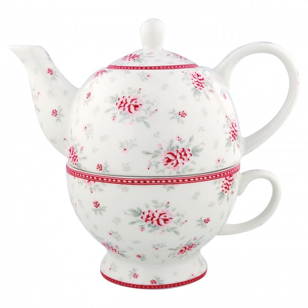 """GreenGate Tea-for-One """"Flora"""" (White)"""