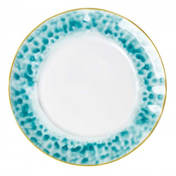 Zauberhaft bunter Porzellan Teller von Rice