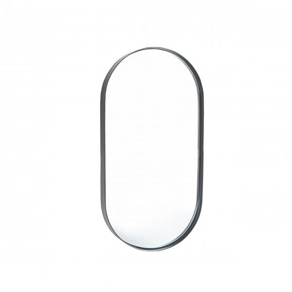 Ovaler Spiegel mit schwarzem Rand 40x20cm von Bahne